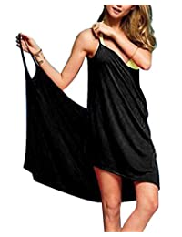c9ed81c6b2 Baonmy Sexy Women Spaghetti Strap Bikini Cover Up Beach Backless Wrap Dress