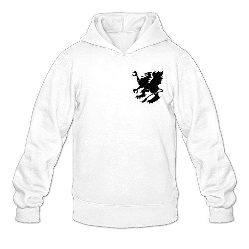 Sprecher Monster Tattoo Soda Classic Men's Hooded Sweatshirts White XXL