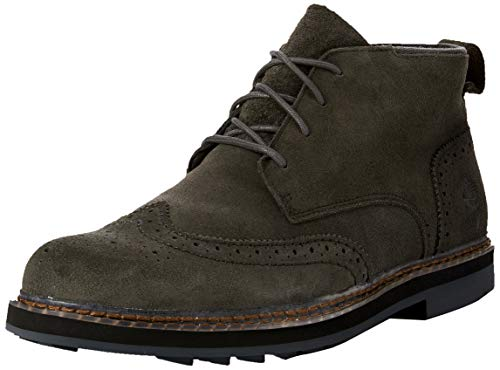 Timberland Men's Squall Canyon Wingtip Waterproof Chukka Dark Green Suede 10.5 D US ()