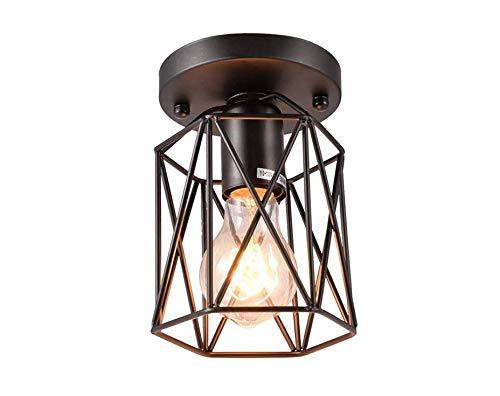 Lámpara Industrial E27 Pendantlight Hierro Forjado Jaula De ...