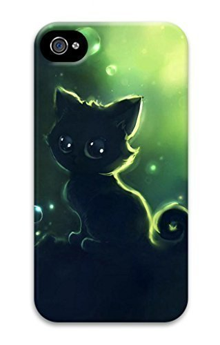 3D Hard Plastic Case for iphone 6 plus 5.5 G,Black Kitty Cat Case Back Cover for iphone 6 plus 5.5