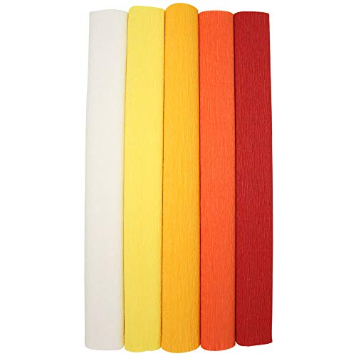 Color: Lemon Yellow Just Artifacts Premium Crepe Paper Roll 8ft Length//20in Width