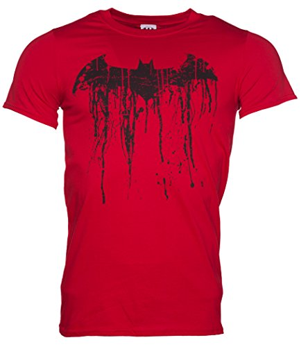 Mens Red Batman Graffiti Logo T Shirt,XL