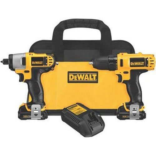 Dewalt DCK211S2R 12-volt MAX Cordless Lithium-Ion Drill Driver and Impact Driver Combo Kit (Renewed) (Impact 12v Driver Dewalt Combo)
