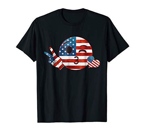 Unique Peace Emoji Patriotic Shirt American Flag Shirt Women
