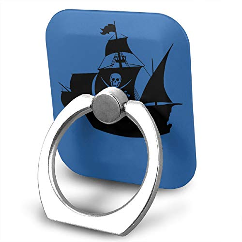 C-Emily Pirate Ship Wall Art Sticker Phone Ring Stand Holder 360 Degree Rotation Cell Phone Finger Stand Car Mount Almost All Phones Cases -