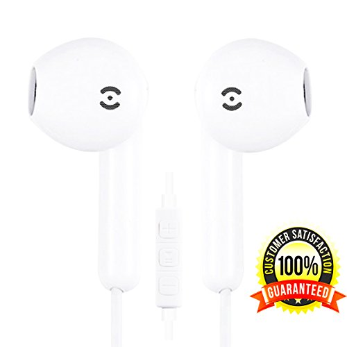 Earbuds, Vivisu iPhone Headphones with Mic & Remote Earphones with Microphone for iPhone 6s 6 Plus Earbuds 5s 5 4s 4 SE IOS 7 8 X 10 iPad 1 2 3 Earbuds Earphones