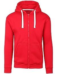 Mens Hipster Hip Hop Basic Zip-up Hoodie Jacket (Upto 6XL Plus)
