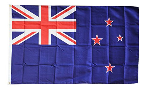 New Zealand -- 3' x 5' Dura-Poly Polyester Flag by Flagline