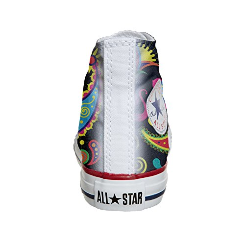 Star Converse produit coutume Fluo Pasley Hi artisanal chaussures All FqwTOq