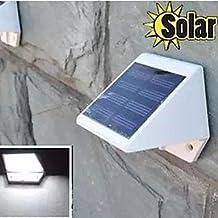 FAGL 0.6W 4-LED White Mini Waterproof Solar Powered Fence / Wall / Garden Lamp - White