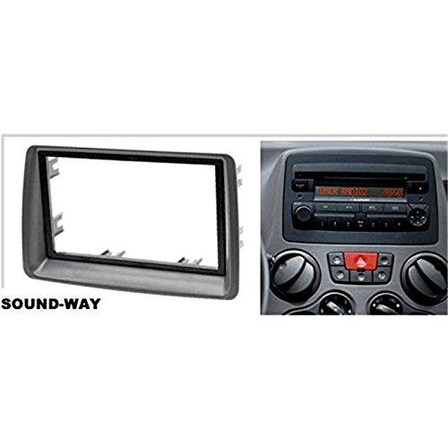 Sound-way Double din car stereo radio installation kit facia adapter Fiat Panda 2002-2012 2 din
