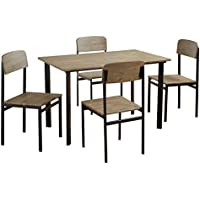 Target Marketing Systems 59915NAT Piazza Dining Set