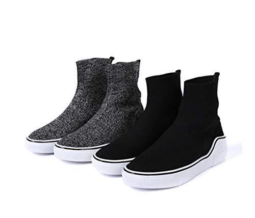 Zapatos Transpirables Deportes Ocasionales DANDANJIE Los Calcetines Mujeres Las Gray Tejidos De Zapatos De Altos R4Rqax