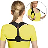 LineSpine Posture Corrector for Women and Men - Comfortable Posture Brace - Effective Upper Back Support - Adjustable Back Straightener for Back Pain Relief - Prevents Slouching and Hunching