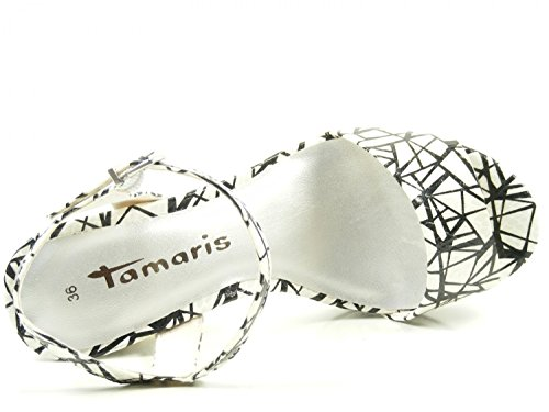 1 38 Para Weiß Mujer Tamaris Sandalias 28003 OxgEqndwfR