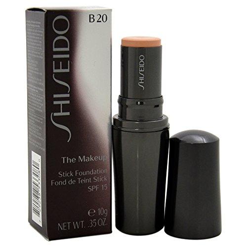 Shiseido The Makeup Stick SPF 15# B20 Natural Light Beige Foundation for Women, 0.35 Ounce -