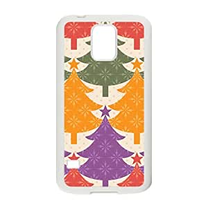 Colorful Christmas Trees Hight Quality Plastic Case for Samsung Galaxy S5 by Maris's Diary