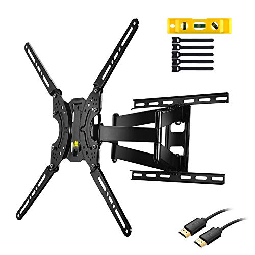 FORGING MOUNT Full Motion TV Wall Mount Bracket Dual Articulating Arms for Most 37-70 inch LED,LCD,OLED,Plasma Screen TVs up to 132LBS VESA 600X400mm-16.5
