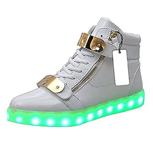 保険通行人作曲家ペイント柄 光るスニーカー 男女兼用 防水仕様 LED 靴 シューズ USB充電可能