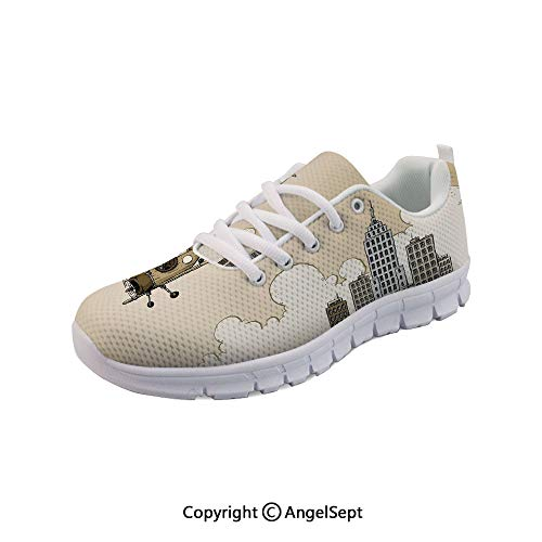 Women's Sneakers Style Biplane Modern City Rise Casual Sport Run Shoes -