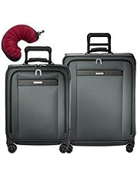 Transcend 3 Piece Spinner Set | Wide Carry-On Expandable Spinner| Medium Expandable Spinner | Travel Pillow