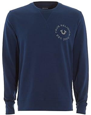 Long Sleeve Round Neck Navy Sweatshirt