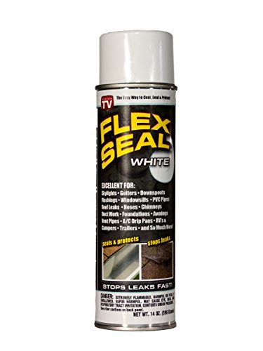 Flex Seal Colors, 14-Ounce As Seen on TV Liquid Rubber Sealant in a Can (White) Color: White Model: