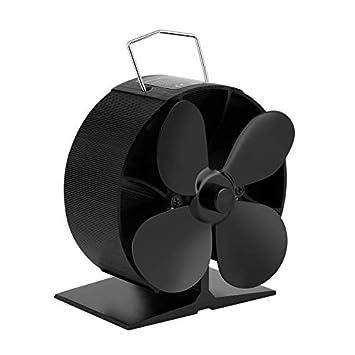 EQ4-GD Chimenea soplador para la madera del quemador 4 Hoja de calor Ventilador Estufa Desarrollado: Amazon.es: Bricolaje y herramientas