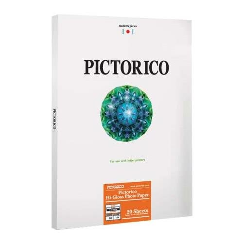 Pictorico PPR120 Hi-Gloss Resin Coated Inkjet Photo Paper, 5.4 mil., 185gsm, 8.5x11