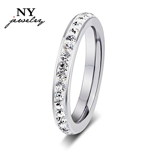 Women 925 Sterling Silver Diamond Rings Wedding Party Engagement Crystal Jewelry - 7