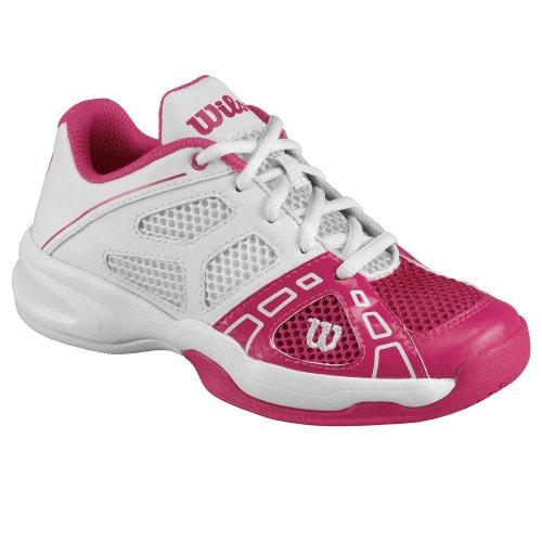 Wilson Rush Pro Junior - Zapatillas De Tenis de material sintético infantil rosa - Pink (pink)