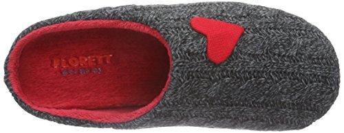 Florett Tinka, Women's Warm Lined Slippers Gray - Grau (Dunkelgrau)