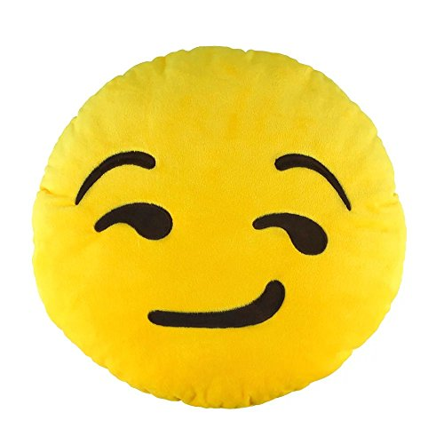 [Emoji Smiley Emoticon Cushion Stuffed Pillow Soft Plush Toy Doll Emoji Face Home Living Room Decoration Pillows Baby Children Adult Plush] (Angel Costume Tumblr)