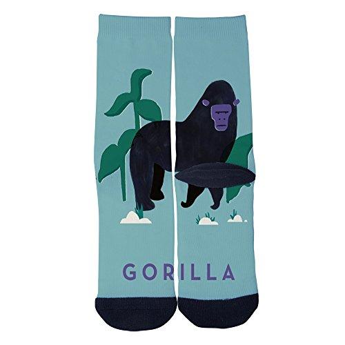 Ellaryo Ferocious gorilla Socks Unisex Adult Print Crew Socks High-Performance Prints High Dress Socks Black