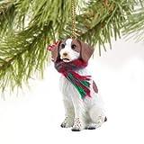 Brittany Spaniel Miniature Dog Ornament - Brown & White
