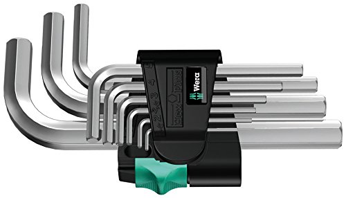 Wera 05021737001 L-Key-Set 950//9 BM N Metric Black