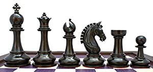 Staunton Castle Aristocrat Series Premium Chess Set 4.1""