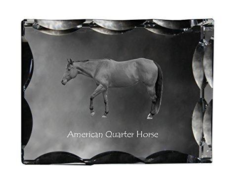 Art Dog Ltd. American Quarter Horse, Cubic Crystal with Horse, Souvenir, Decoration, Limited Edition
