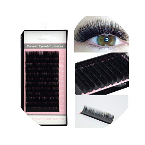 All Sizes False Eyelash Extensions Mink Black Material Curls 1 Tray/Lot,D,0.20Mm,10Mm