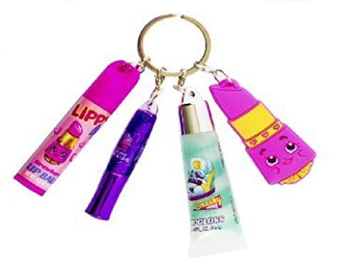 Shopkins Lip Set Keychain, w/ charm, gloss and lip balm