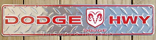 ShopForAllYou Vintage Decor Signs Dodge HWY Street Sign Road ram Logo Highway bar Garage Truck Metal Wall Decor ad ()