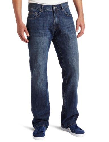 Calvin Klein Jeans Men's Dark Cobalt Blue Bootcut Jean, Medium Wash, 36x32