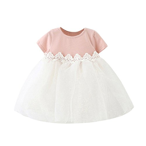 MITIY Baby Girl Cute Bow Princess Bridesmaid Pageant Birthday Party Wedding Tutu Dress -