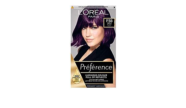 LOreal Preference P38 - Tinte permanente para el pelo, color morado