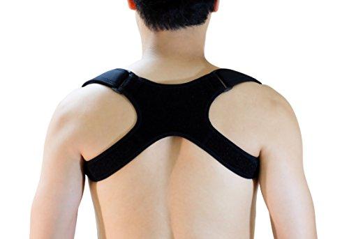 GAVIMAX Premium Unisex Upper Back Posture Corrector Clavicle Support Brace - Orthopedist Designed Vest - Men and Women (REG 24''-48'') - Improve Bad Posture, Shoulder Alignment – Under clothes
