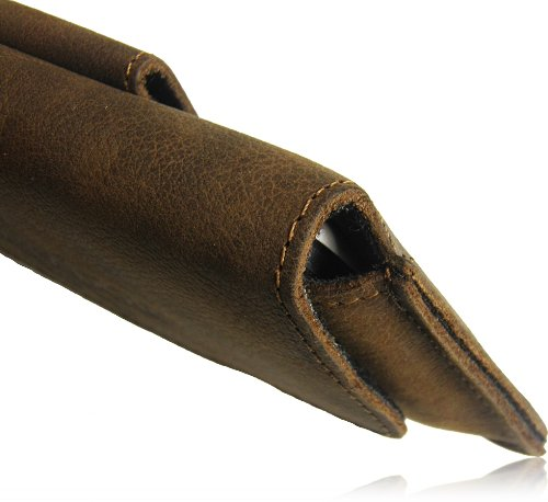 Matador Echt Leder Tasche Case Hülle Handytasche Gürteltasche Quertasche für Apple iPhone 5C in Antik Tobacco Vintage Style mit verdecktem Magnetverschluß und Gürtelschlaufe