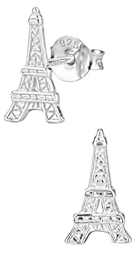 Hypoallergenic Sterling Silver Eiffel Tower Stud Earrings for Kids (Nickel Free)]()