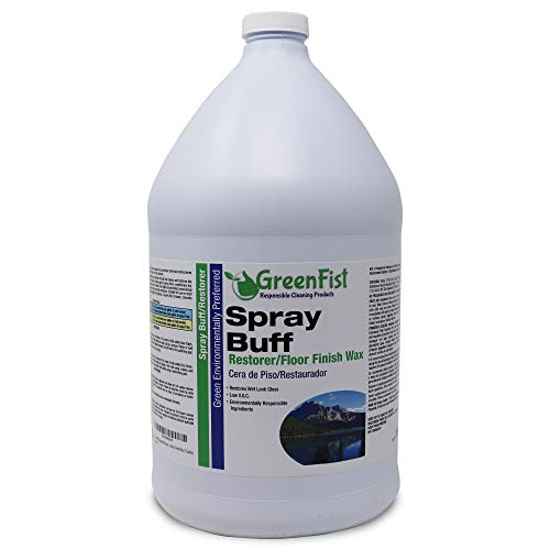 Shine Solution - GreenFist Spray Buff Restorer Renewing Floor Finish Wax Polisher Buffer[ Removes Surface Marks, Conditioned, Dry and Spotless Floors ], 1 Gallon