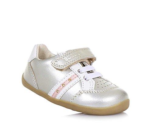 BOBUX - Goldener Step Up Trackside Schuh aus Leder, made in New Zealand, mit Klettverschluss, elastische Schnürsenkel, Baby Mädchen